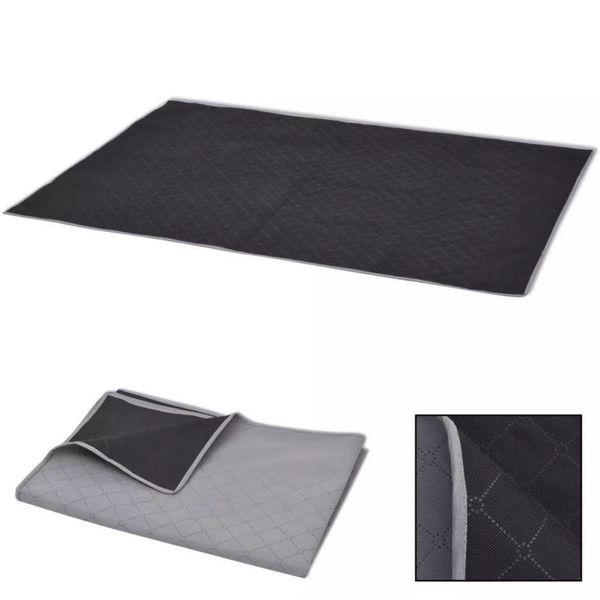 Picknickkleed 100x150 cm grijs en zwart