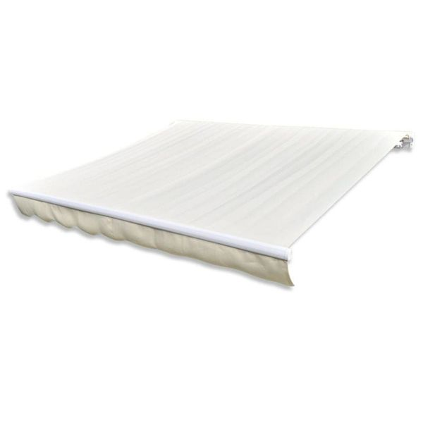 Canvas zonneschermdoek met luifel 6 x 3 m (crème)(exclusief frame)