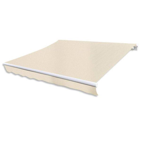 Canvas zonneschermdoek met luifeltje 3 x 2,5 m crème exclusief frame