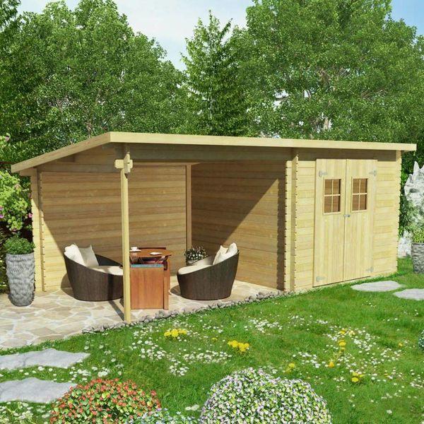 Tuinhuis 28 mm 6,3x3 m massief hout