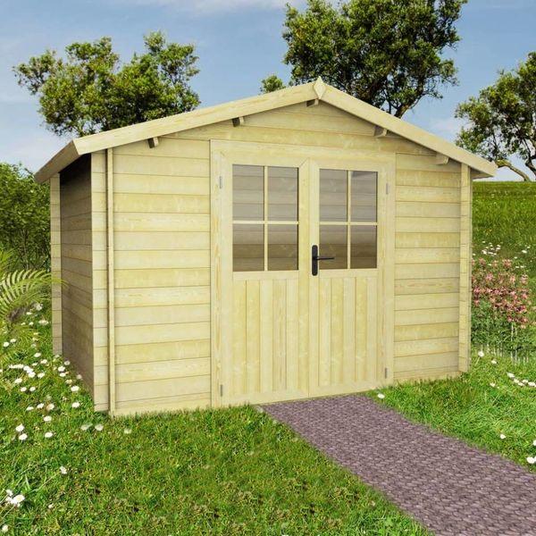 Tuinhuis 3,1x3 m 28 mm massief hout