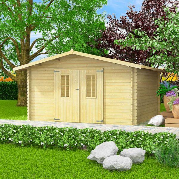 Tuinhuis 4x4 m 34 mm massief hout