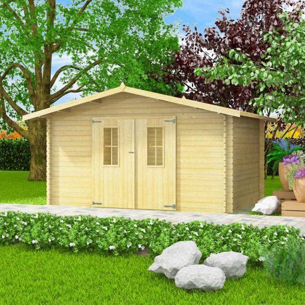 Tuinhuis 4x3 m 34 mm massief hout