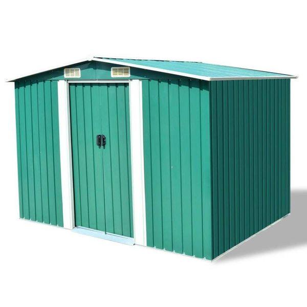 Tuinhuis 257x205x178 cm metaal groen