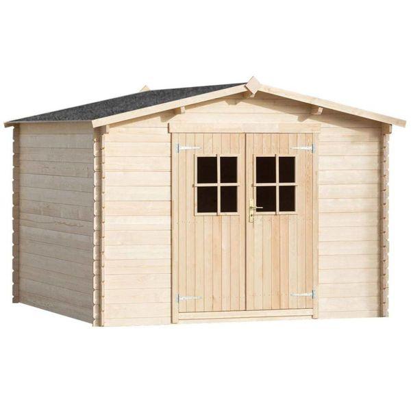 Tuinhuis 3x3 m 28 mm hout