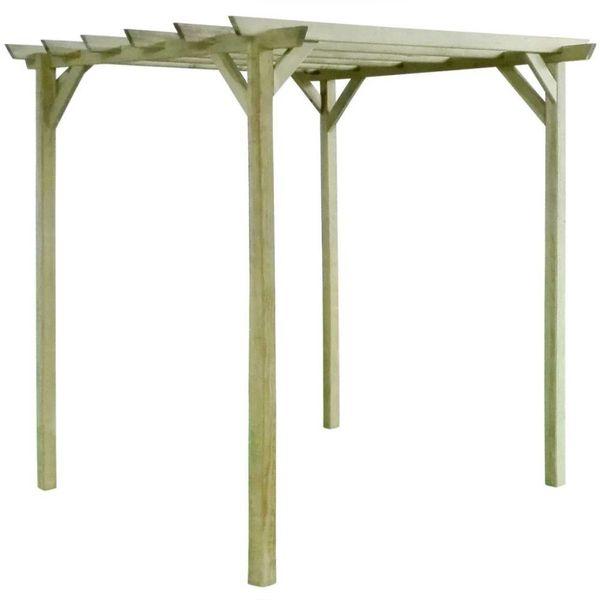 Pergola 2x2x2 m FSC geïmpregneerd grenenhout