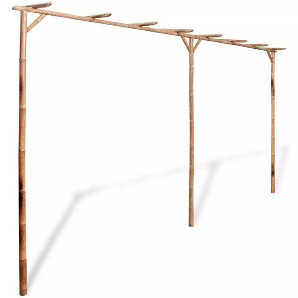 Pergola bamboe 385x40x205 cm