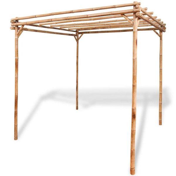 Pergola bamboe 195x195x195 cm