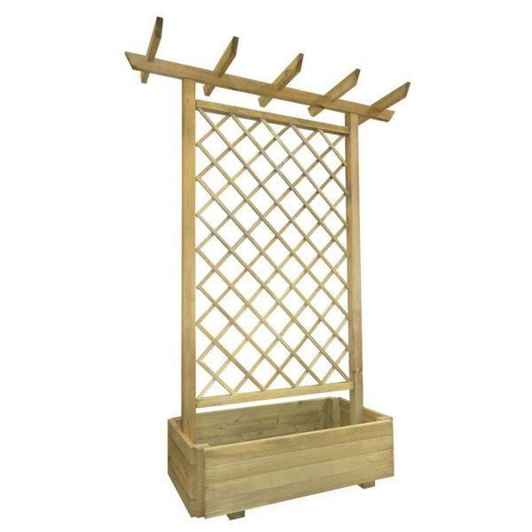 Pergola plantenbak 162x56x204 cm FSC hout