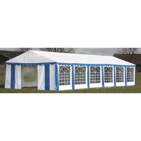 Partytent 12 x 6 PVC blauw