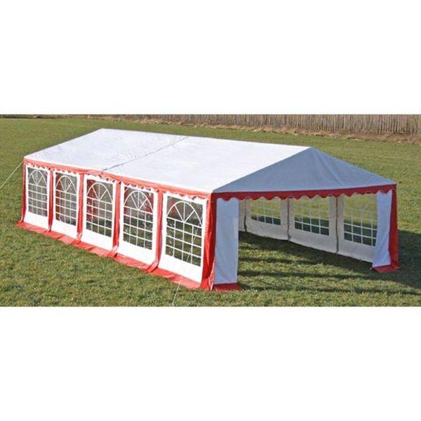 Partytent boven-en zijpanelen 10 x 5 m rood & wit