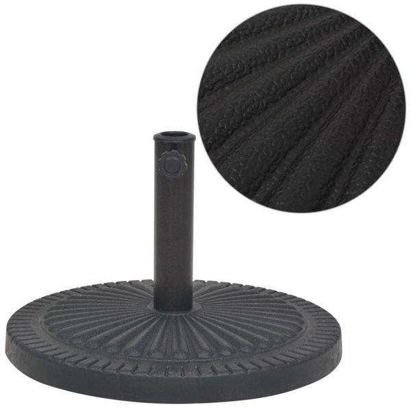 Parasolvoet rond 14 kg hars zwart