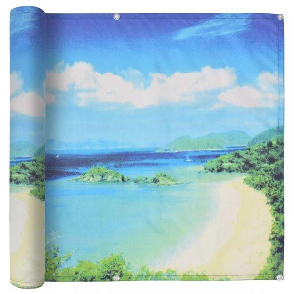 Balkonscherm 75x600 cm oxford stof meerzicht opdruk