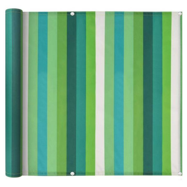 Balkonscherm 75x400 cm oxford stof streep groen