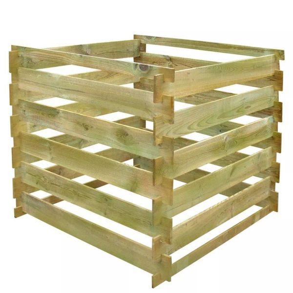 Compostbak gelat vierkant 0,54 m³ FSC hout