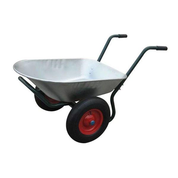 Kruiwagen 66 liter dubbel wiel