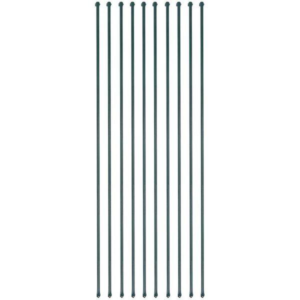 Tuinpalen 2 m metaal groen 10 st