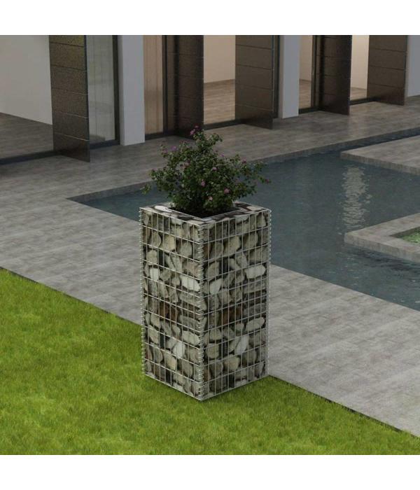 vidaXL Gabion plantenbak 50x50x100 cm staal