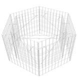 vidaXL Schanskorf plantenbak zeshoekig 100x90x50 cm