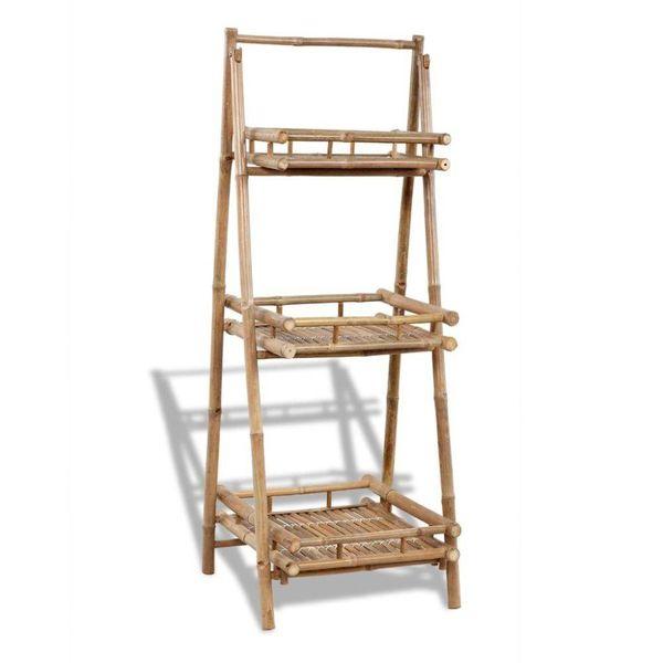 Inklapbaar bamboerek met 3 plankjes