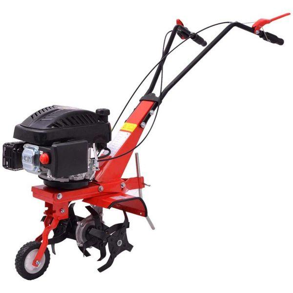 Cultivator op benzine 5 PK 2,8 kW rood