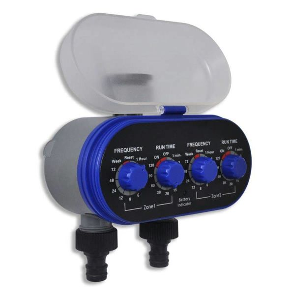 Elektrische Irrigatie watertimer (2 uitgangen)