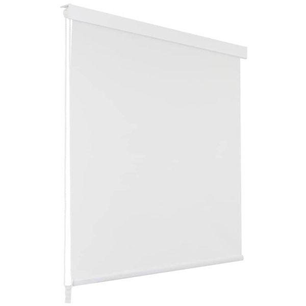 Rolgordijn voor douche 140x240 cm wit