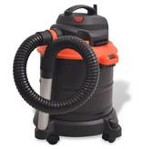 vidaXL Asstofzuiger zwart en oranje 1200 W 20 L