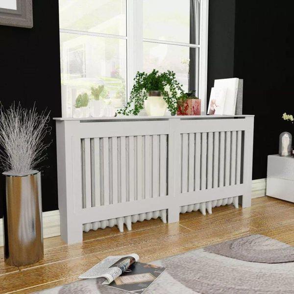 Radiatorombouw wit MDF 172 cm