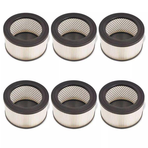 HEPA filters voor asstofzuiger wit en zwart 6 st