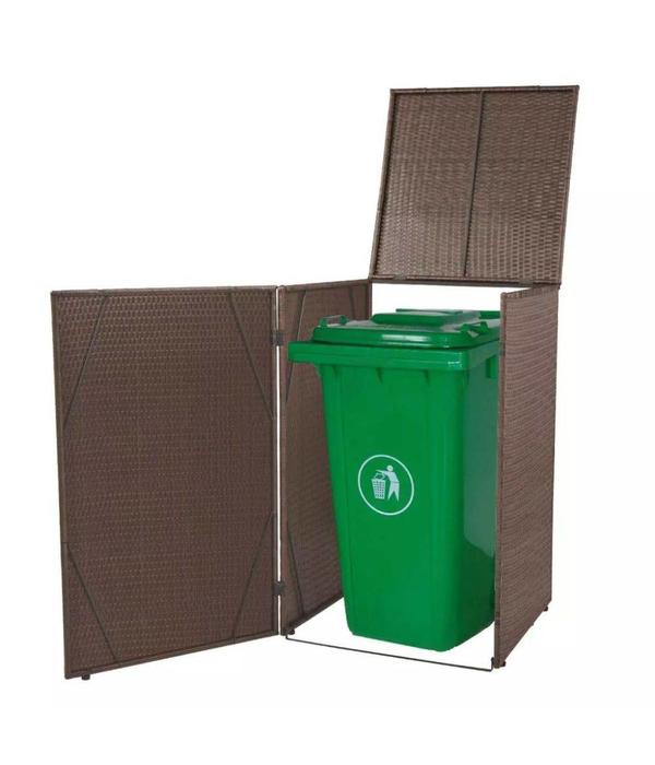 vidaXL Containerberging enkel poly rattan bruin