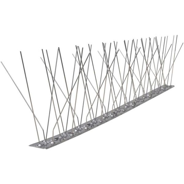 Vogel- en duivenpinnen roestvrij staal 5 rijen set van 6