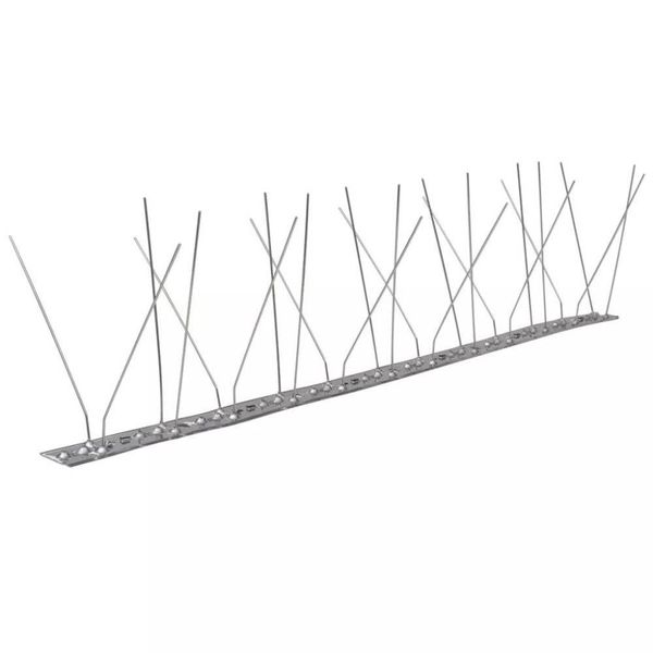 Vogel- en duivenpinnen roestvrij staal 4 rijen set van 6