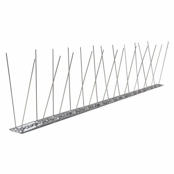 Vogel- en duivenpinnen roestvrij staal 2 rijen set van 6