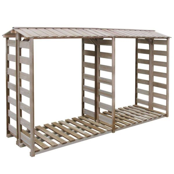 Haardhout opslag 300x100x176 cm FSC geïmpregneerd grenenhout