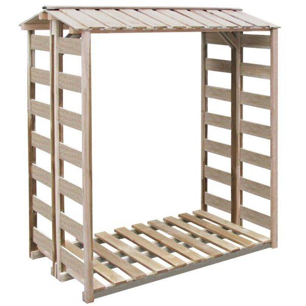 Haardhout opslag 150x100x176 cm FSC geïmpregneerd grenenhout