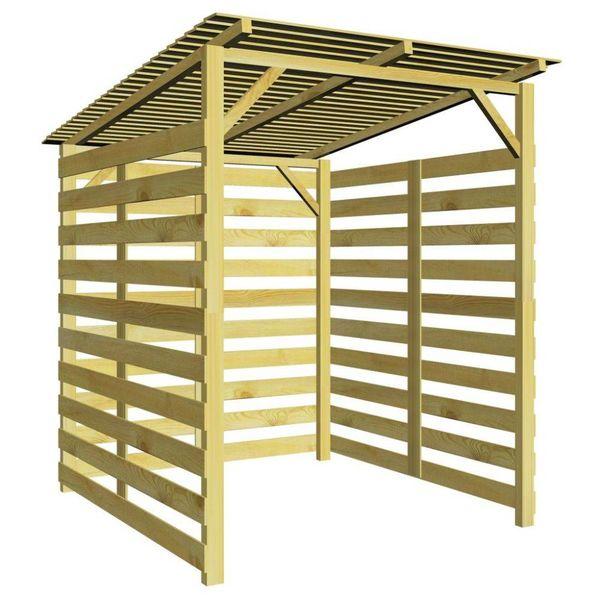 Tuinschuur voor brandhout FSC geïmpregneerd grenenhout
