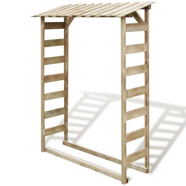 Haardhout opslag 150x44x176 cm FSC geïmpregneerd grenenhout