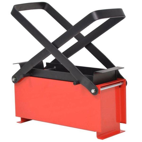 Brikettenpers voor papier 34x14x14 cm staal zwart en rood