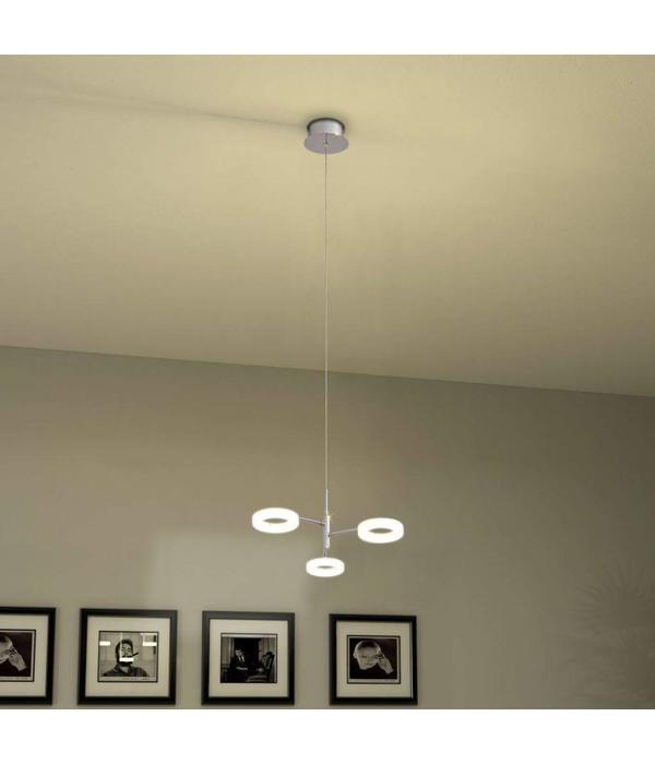 vidaXL LED-hanglamp met 3 lampen warm wit