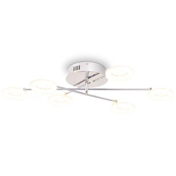 LED-plafondlamp met 6 lampen warm wit