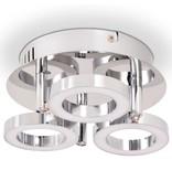 vidaXL LED-plafondlamp met 3 lampen warm wit