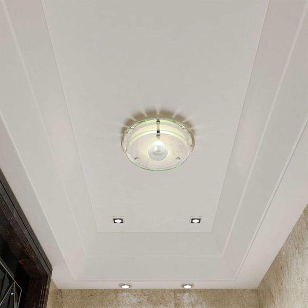 Plafondlamp rond glas 1xE27 kristal
