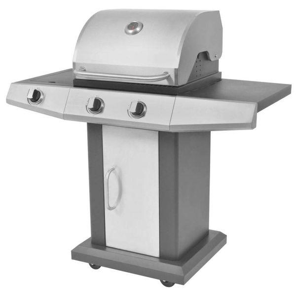 Gasbarbecue en grill 2+1 kookzone zwart en zilver
