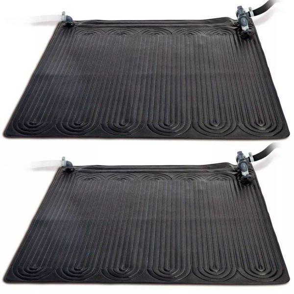 Verwarmingsmat op zonne-energie 2 stuks PVC 1,2x1,2 m Zwart 28685