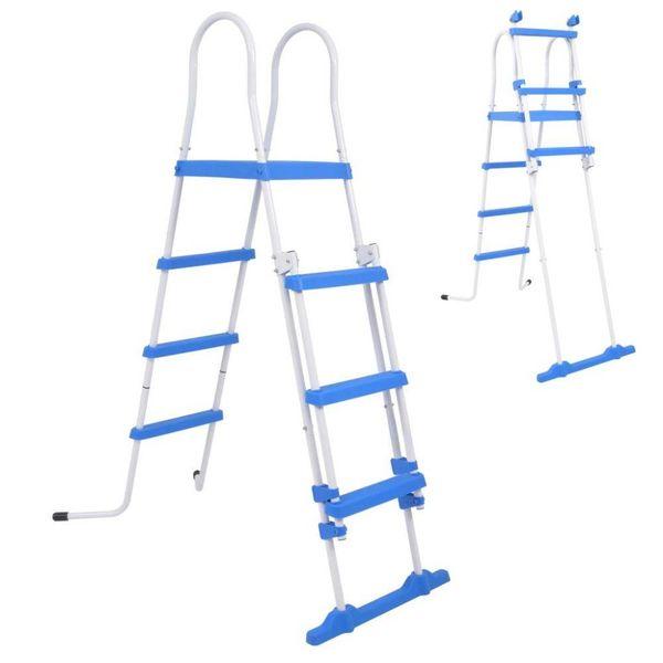 Zwembadladder met 3 treden voor bovengrondse zwembaden 122 cm
