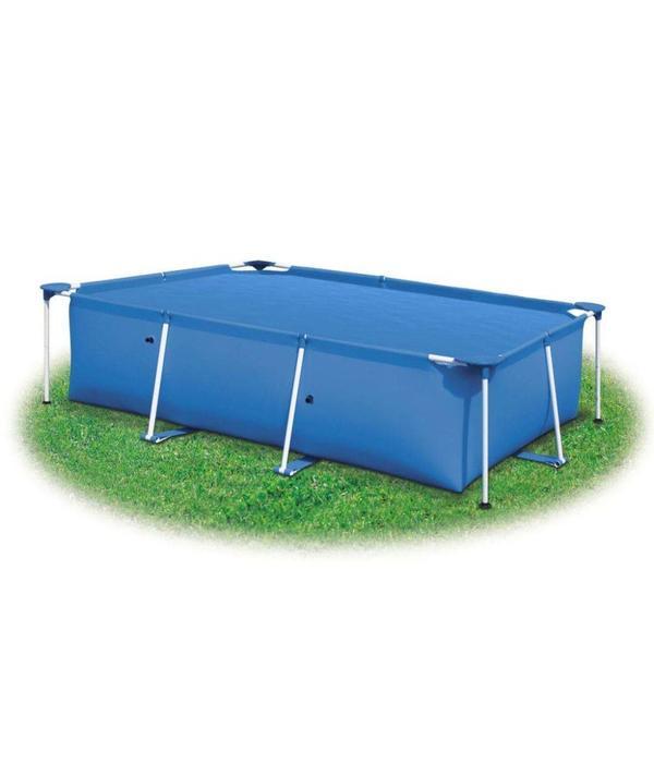 vidaXL Zwembadzeil rechthoekig 450 x 220 cm PE blauw