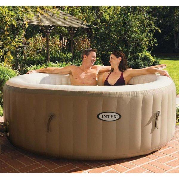 PureSpa Opblaasbare spa met bubbelmassage 196x71 cm 28404NL