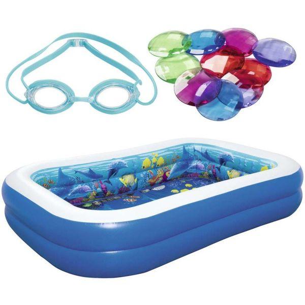 Onderwateravontuur opblaaszwembad 54177
