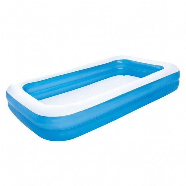 opblaasbaar zwembad 305 x 183 x 46 cm blauw wit